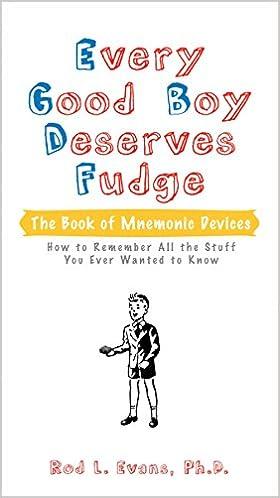 Every Good Boy Deserves Fudge  The Book of Mnemonic Devices Paperback – 21  Jun 2007 01c48ba263