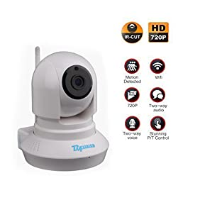 BAVISION Wifi Wireless IP Camera Home Security Cameras For Monitor Baby/Edler/Pet/Dog Pan Tilt Night Vision Plug/Play with Two-Way Audio White