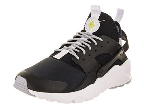 NIKE Men's Air Huarache Run Ultra Black/White Wolf Grey Running Shoe 10.5 Men (Nike Air Total Package)