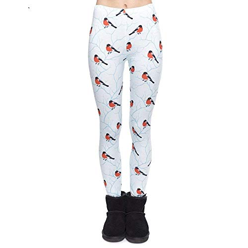 Lga49172 Alta Estilo Leggings Cintura Legging Mujeres Moda Pantalones Navidad De Bullfinch Pingrog Yoga Camiseta Único Imprimir Mujer ax4AwICq