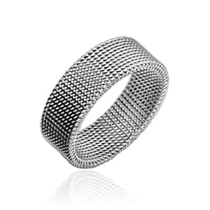 Stainless Steel Mesh Ring - Size 13