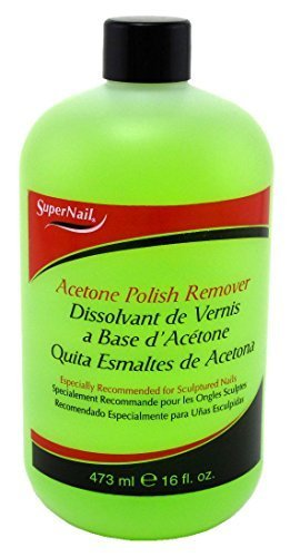 Super Nail Acetone Polish Remover, clear, 16 Fl Oz