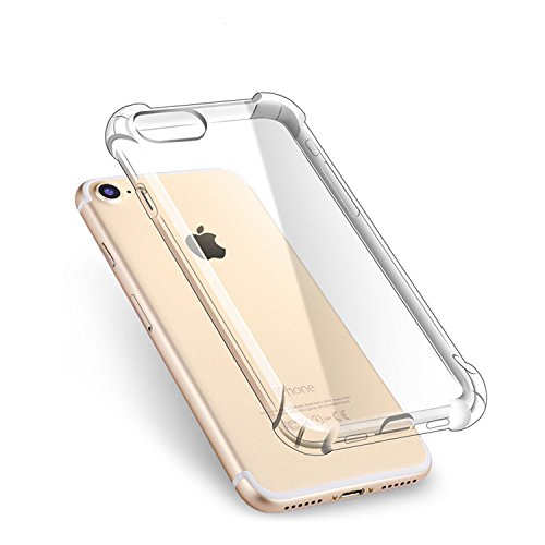 CHOETECH iPhone 8/7 Plus Funda iPhone 8/7 Plus Case Transparente Ultra-Delgado TPU Suave Teléfono Caso de la Vontraportada...