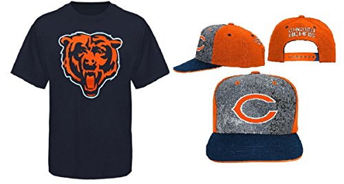 Chicago Bears NFL Youth Size Performance T-shirt With Cap Set (Youth Small (Cap Chicago Bears Set)