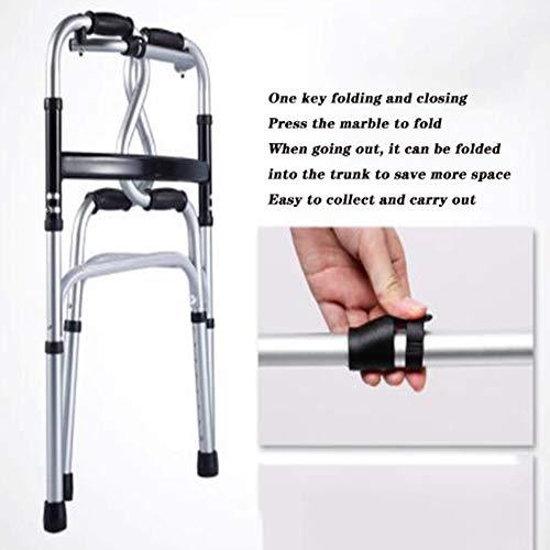 DOPORA Andador Anciano, Andador Plegable de aleación de Aluminio ...