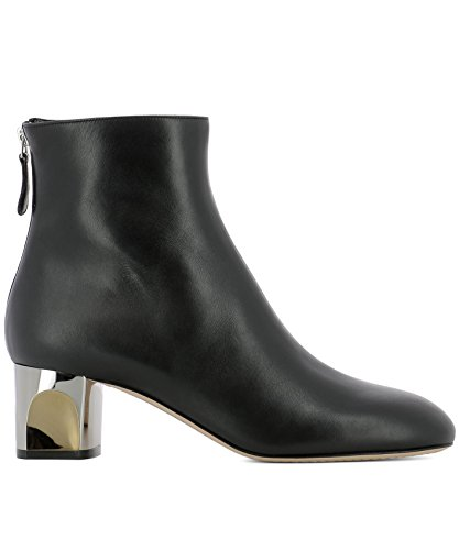 Alexander McQueen Women's 534124Whr601000 Black Leather Ankle Boots