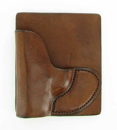 Tagua PK5-013 Back Pocket Holster for Kel Tec 380-Ruger LCP-Most Small  380s, Brown, Left Hand