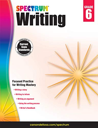 - Spectrum Paperback Writing Book, Grade 6, Ages 11-12