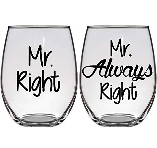 his and his wine glasses