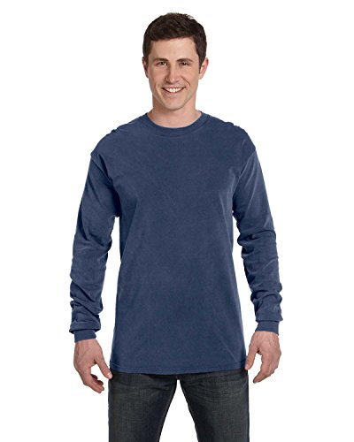 Comfort Colors 6014 Adult Heavyweight Ringspun Long Sleeve T-Shirt - China Blue - L