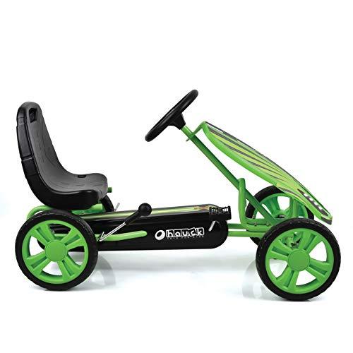 Hauck Toys For Kids GoKart Speedster - Pedal Go-Cart mit Handbremse und verstellbarem Sitz für Kinder ab 4 Jahre - Grün