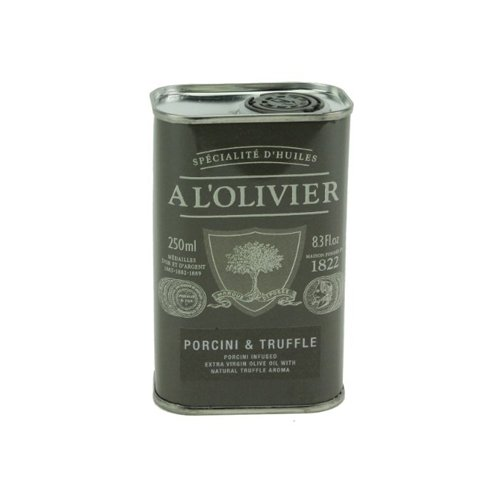 A L'Olivier Olive Oil Infused with Porcini-truffle, 8.3-Ounce Tins