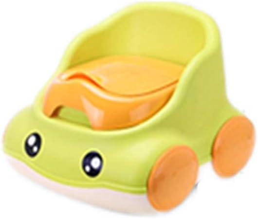 子供用トイレ幼児用便器 あなたの幼児のために安定したそして快適な、男の子と女の子のためのトイレの椅子楽しいトイレトレーニングシート 男の子 女の子 かわいい プレゼント (Color : Green)