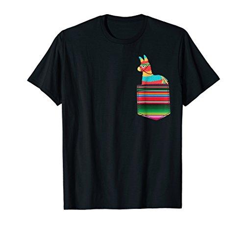 Pinata Blanket Pocket Serape Mexican Fiesta Party T-Shirt