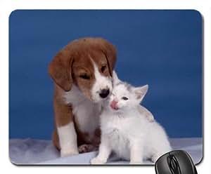 BEST FRIENDS FOREVER Cute Cool Decorative Design Animal Dog Mousepad