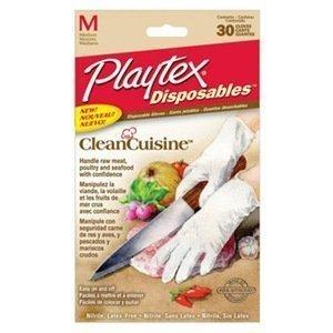 Playtex Disposables CleanCuisine Gloves - Medium: 2 Packs of 30 Count