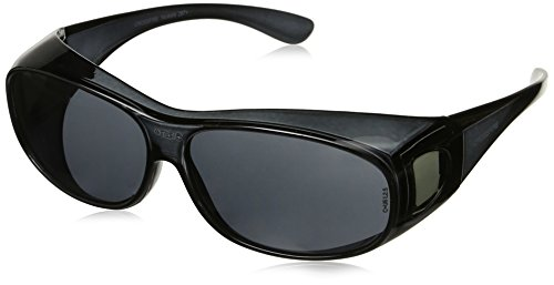 Crossfire 3116 OG3 Over the Glass Safety Glasses Smoke Lens - Crystal Black - Sunglasses Costly