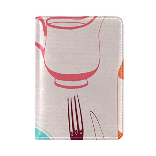 Passport Cover Case Bread Jam Sweet And Sour Sauce Breakfast Leather&microfiber Multi Purpose Print Passport Holder Travel Wallet For Women And Men 5.51x3.94 In