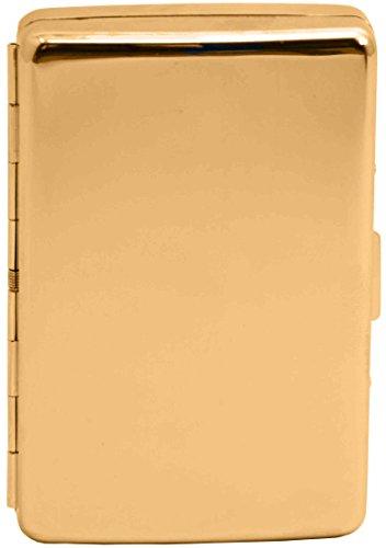 Vintage Gold Compact (16 100s) Metal-Plated Cigarette Case & Stash Box