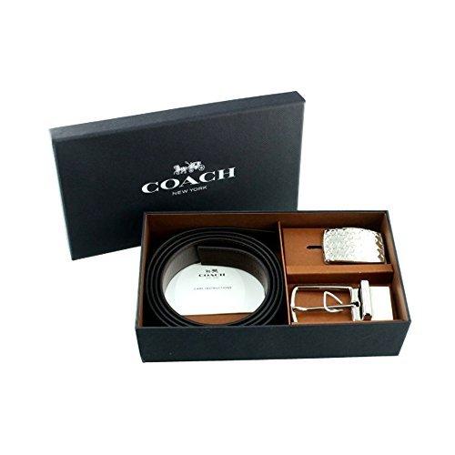 Coach SIGNATURE PLAQUE HARNESS CUT-TO-SIZE LEATHER BELT (COACH F65186) -
