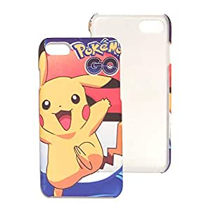 iPhone 7 Luminous glow in the dark pokemon go pikachu rubered grooved cover case