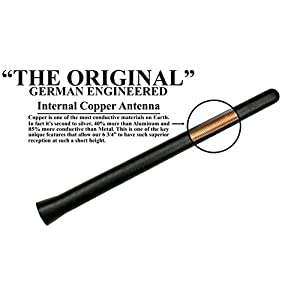 AntennaMastsRus - THE ORIGINAL 6 3/4 INCH works with Harley Davidson Touring Electra Glide Ultra Limited FLHTK (2010-2018) - 1 PACK - SHORT Rubber Antenna - Reception Guaranteed - German Engineered