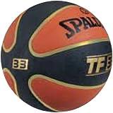 Spalding 1700023 Rubber Basket Ball, Size 7 (Gold//Black)