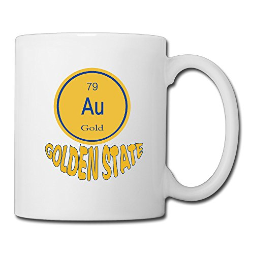 Cool Golden State Ceramic Coffee Mug, Tea Cup | Best Gift For Men, Women And Kids - 13.5 Oz, White