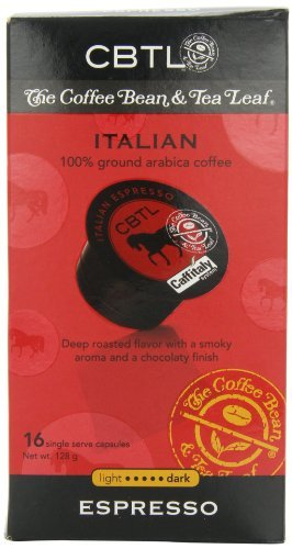 CBTL Italian Espresso Capsules, 16 count (Pack of 6) by CBTL