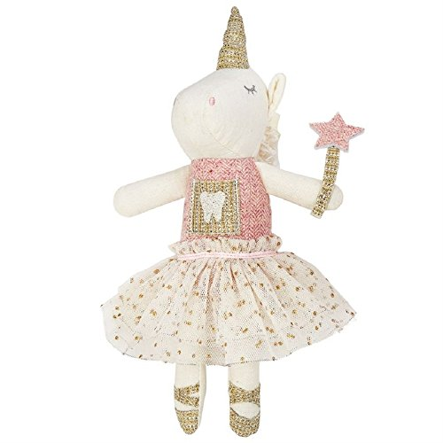 Mud Pie Women's Unicorn Tooth Fairy Pink One -