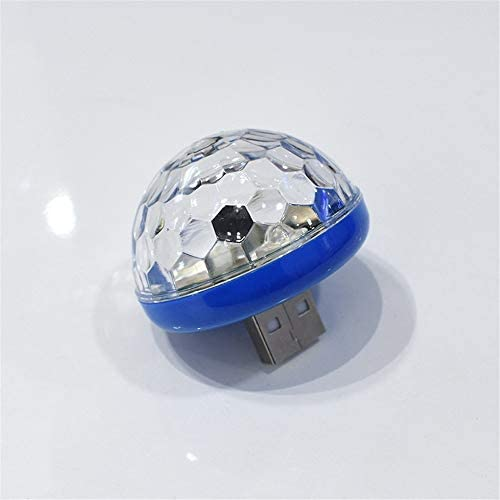 【GFA】新型LED USB自動車雰囲気灯DJ RGBミニカラー音楽音響制御ランプ車内装飾灯環境灯