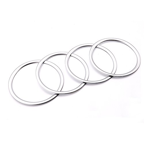 ABS Matte Door Inner Speaker Cover Ring Decor Trim For Ford Escape Kuga 2013-2017 (Front&rear Door 4pcs) - Speaker Trim Rings