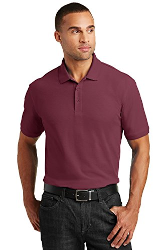 Port Authority Core Classic Pique Polo. K100 Burgundy XL