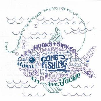 Let's Go Fishing Cross Stitch Chart