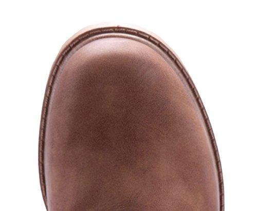 9c7ba981838934 ... Schuhtempel24 Damen Schuhe Boots Stiefel Stiefeletten Blockabsatz 4 cm  Camel ...