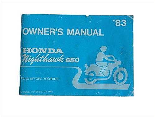 honda nighthawk service manual