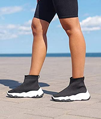 Mujer Ligero Calcet/ín Fit Ponerse para Caminar Deporte Corriendo Tejido De Punto Entrenadores