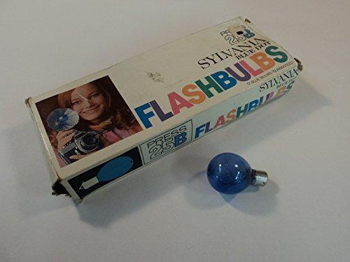 Sylvania Flashbulbs - Sylvania Blue Dot Flashbulbs Box of 10 Press 25B Vintage