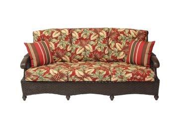 Amazon.com: Boca Rattan Riviera Sofa in Chestnut, Green ...