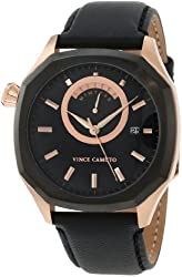 Vince Camuto Men's VC/1006BKBR The Spectator Rosegold-Tone Day Date Watch