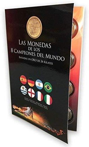 IMPACTO COLECCIONABLES Medallas del Mundial - 8 Monedas de los Campeones del Mundo de Futbol: Amazon.es: Juguetes y juegos
