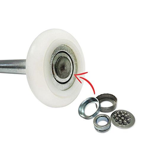 13 Ball Nylon Garage Door Rollers (4 Inch Stem) Sealed Bearing (10 Pack) by  DURA-BILT