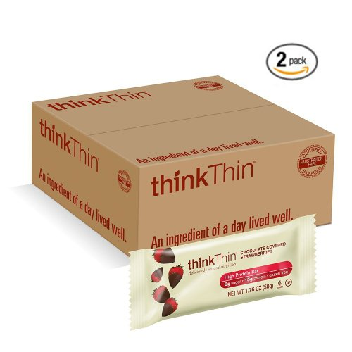 thinkThin Chocolate Covered Strawberries 2 Pack