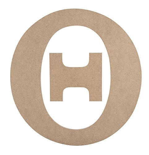 (Wooden Greek Letter - Unfinished Wood Letter Theta, Paintable Greek Font for DIY, Home, College, Sorority, Fraternity Decoration, 11.125 x 11.56 x 0.25 inches)