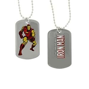 Marvel Comics Ironman Listo para la acción del perro collar de la etiqueta 8004