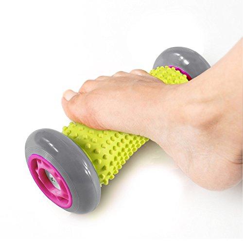 Foot Massager Roller Foot Roller for Plantar Fasciitis, Heel & Foot Arch Pain Relief (Gray)