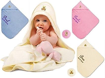 Bebé maxi con capucha toalla de mano con nombre bordados toalla con capucha XL toalla de