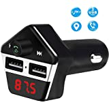 GPS Tracker for Vehicles, Colisivan Car Finder Bluetooth FM Transmitter for Car Kit Vehicle Tracking Device Car Radio Receiver with 4.2A Dual USB Quick Car Charger