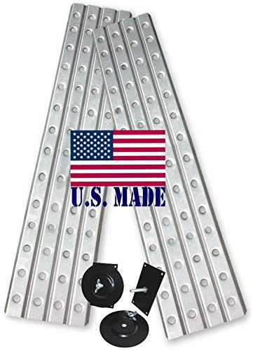 BILLET4X4 U.S. made XD SAND TRACKS - ALUMINUM 16 inch X 60 inch (Pair) with Mounting Brackets (OFF-ROAD RECOVERY)