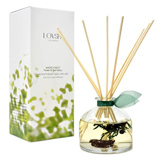 LOVSPA Winter Forest Pine Reed Diffuser Gift Set Juniper Berries, Sandalwood & Cedar Notes | Made with Real Botanicals | Proudly Made in The USA